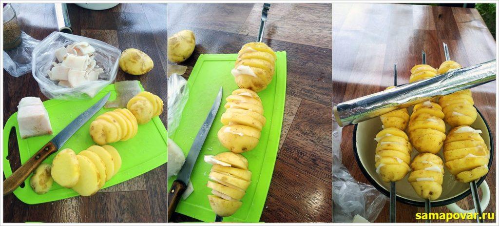 Готовим картофель с салом